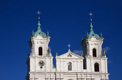 Dome and towers of the Old Catholic church in the Baroque style Stock Images