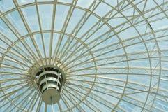 Dome trade center. Glass dome of a shopping center Stock Photo