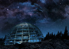 Dome under the milky way Stock Photos