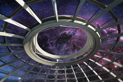 Dome under the star field. Ceiling of round dome under the star field Royalty Free Stock Images