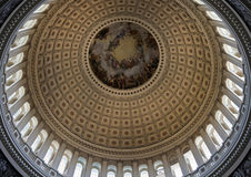 Dome of the US Capitol. Inside of the dome of US Capitol in Washington DC Stock Photos