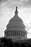 Dome of US Capitol Building. Monochrome view of the dome of the US Capitol building in Washington DC Royalty Free Stock Photos