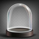 Dome Vector. Advertising, Presentation Design Glass Element. Empty Glass Crystal Dome. Template Mockup. Isolated. Glass Dome Vector. Exhibition Design Element stock illustration
