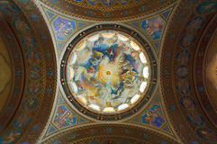 Dome of the votive church. Szeged, Hungary stock images