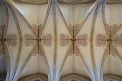 Dome. Of Wells Cathedral in England view from within and from below Stock Photos