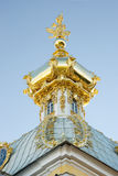 Dome of the west wing of grand palace, peterhof Royalty Free Stock Photos