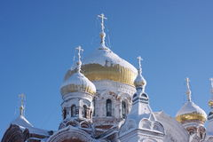 Dome of White Mountain in the Perm region. Belogorskij holy monastery of St. Nicholas in the Perm region Royalty Free Stock Photography