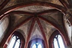 Dome and windows in Basilica Frari in Venice. VENICE, ITALY - MARCH 30, 2017: dome and windows in Basilica di santa maria gloriosa dei frari The Frari. The stock images