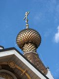 Dome of the wooden church Royalty Free Stock Photos