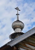 Dome of wooden church in Kizhi Royalty Free Stock Photos