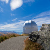 Domed astronomy observatory on mountain top Royalty Free Stock Image