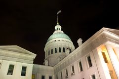 Domed building at night Royalty Free Stock Photos