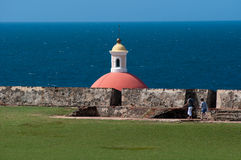 Domed building, Old San Juan Stock Image