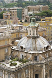 Domed Building and Roof Garden in Rome Stock Image