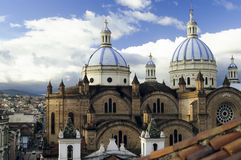 Domed Cathedral, in Cuenca, Ecuador Stock Photography
