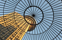 Domed glass roof of entrance to Emporis Building Royalty Free Stock Image