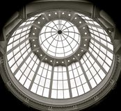 Domed glass roof royalty free stock photos