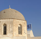 Domed Greek church Stock Photos