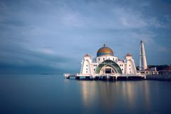 Domed mosque on waterfront