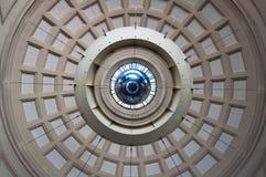 Domed roof. Doomed roof and metallic sphere in França Station in Barcelona, Spain Stock Image