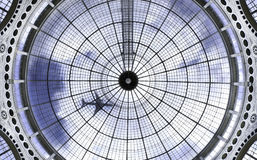Domed roof and aircraft Stock Image
