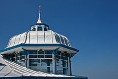 Domed roof on the end of Llandudno pier Stock Photo