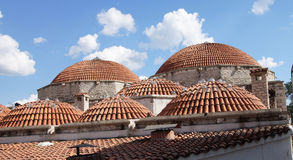 Domed rooftop of hamam Stock Image