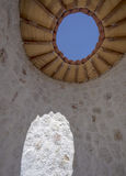 Domed Stone Structure with Open Roof Royalty Free Stock Photography
