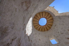 Domed Stone Structure with Open Roof Stock Images