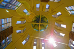 Domed. Sun streams through the domed windows in a public building Stock Image