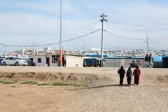Domeez refugee camp. Stock Photos