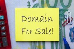 Domein voor verkoop stock afbeeldingen