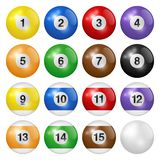Billiard balls isolated on white background. High quality, photorealistic vector illustration. Billiard balls isolated on white background. High quality royalty free illustration