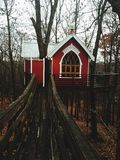 Domek na drzewie Fotografia Royalty Free
