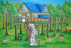 Domek na drzewie Zdjęcie Stock