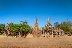Domek na drzewie plaży bar Fotografia Stock