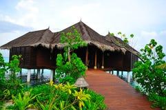 domek na plaży Malediwy Obrazy Royalty Free