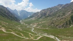 Domel. The Burzil Pass & x28;el. 4,100 m & x28;13,500 ft& x29;& x29; is an ancient pass and caravan route between Srinagar in Kashmir and Gilgit royalty free stock image