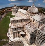 Domel de Pisa, el top de la torre inclinada Imagenes de archivo