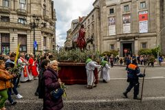Domenica delle Palme Vigo - in Galizia, Spagna fotografia stock
