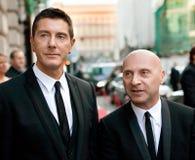 Domenico Dolce och Stefano Gabbana Fotografering för Bildbyråer