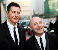 Domenico Dolce and Stefano Gabbana. Famous designers at the presentation of opening a store in Moscow Royalty Free Stock Photos