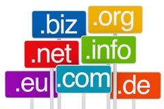 domeny signboard Zdjęcia Royalty Free