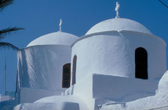 Domes. Patmos, Greece, Church Domes Royalty Free Stock Images