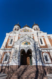 Domes of Alexander Nevsky Cathedral in Tallinn Stock Photo