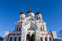 Domes of Alexander Nevsky Cathedral in Tallinn Stock Image