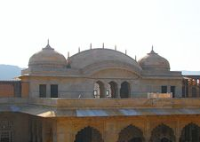 Domes in Amer Fort, Jaipur, Rajasthan, India Stock Images