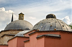 Domes of an ancient Hammam, Istanbul Stock Photo