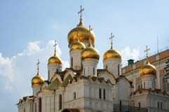 Domes of The Annunciation Cathedral Stock Image