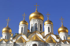 Domes of the Annunciation Cathedral in the Moscow Kremlin Stock Photo